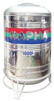 Bồn Inox Dapha 2000 lít ĐỨNG Xuất Khẩu ĐKL